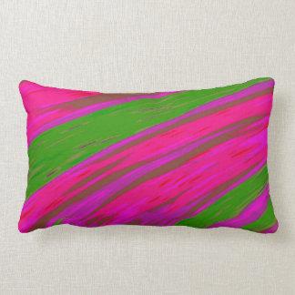 Coussin Rectangle Abrégé sur lumineux bruissement de couleur rose et