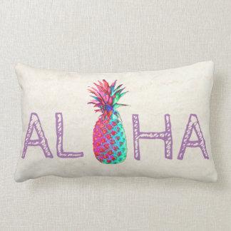 Coussin Rectangle Aloha ananas hawaïen adorable