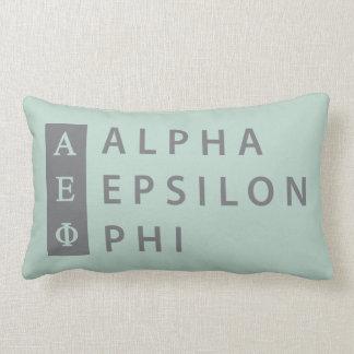 Coussin Rectangle Alpha logo empilé par | epsilon de phi