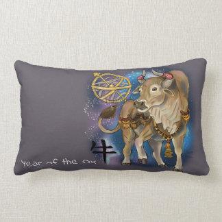 Coussin Rectangle Année chinoise de zodiaque du boeuf
