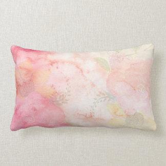 Coussin Rectangle Arrière - plan floral rose d'aquarelle