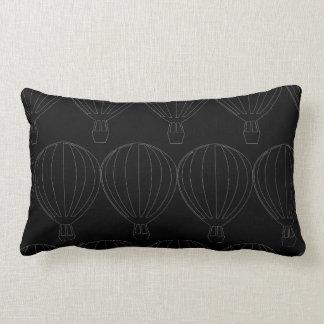 Coussin Rectangle Ballon à air chaud simple sur le tissu foncé