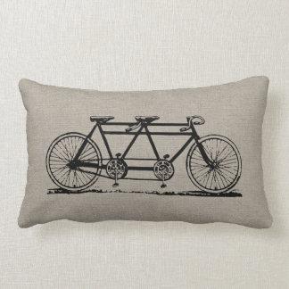 Coussin Rectangle Bicyclette tandem vintage rustique