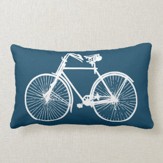 Coussin Rectangle blanc bleu lumineux de carreau de bicyclette de