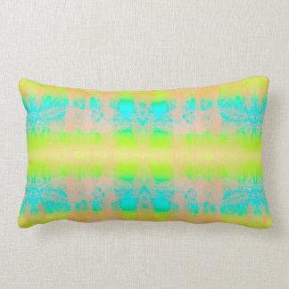 Coussin Rectangle bleu de vert