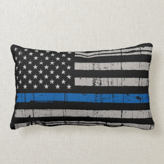 Coussin Rectangle Blue Line mince - policier - police