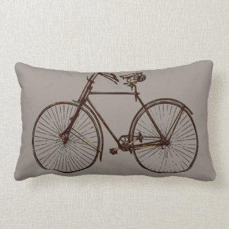 Coussin Rectangle brun gris de vélo de carreau noir de bicyclette