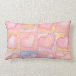 Coussin Rectangle Cadeau de mariage en pastel rose élégant de