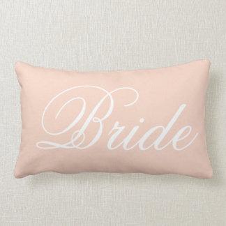 Coussin Rectangle Carreau de jeune mariée de rose en pastel