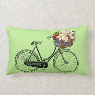 Coussin Rectangle Carreau EN BON ÉTAT léger de fleur de bicyclette