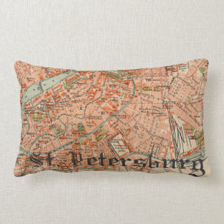 Coussin Rectangle Carte de St Petersburg
