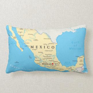 Coussin Rectangle Carte politique du Mexique