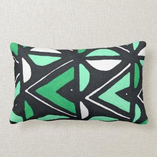 Coussin Rectangle Copie tribale de Mudcloth d'Africain vert