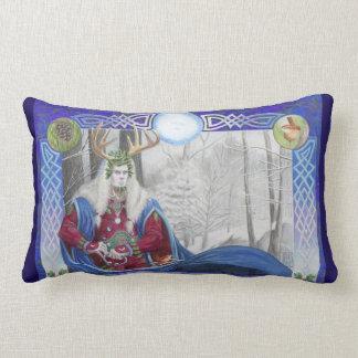 Coussin Rectangle Double portrait du roi de chêne et de roi de houx