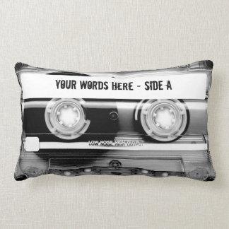 Coussin Rectangle Enregistreur à cassettes Mixtape (personnalisé)