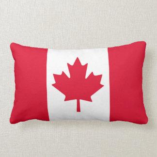 Coussin Rectangle Feuille d'érable canadienne de drapeau Canada