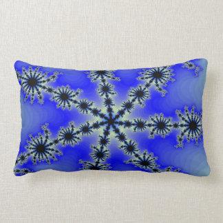 Coussin Rectangle Flocon de neige bleu -