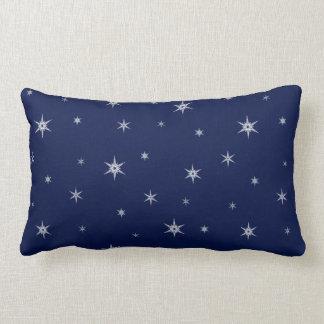Coussin Rectangle Flocons de neige à l'horaire d'hiver de la nuit |