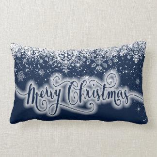 Coussin Rectangle Flocons de neige de Joyeux Noël