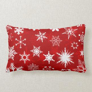 Coussin Rectangle Flocons de neige de saison des vacances