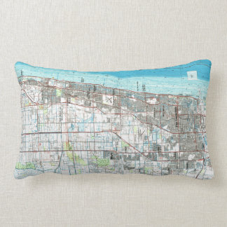 Coussin Rectangle Fort Lauderdale la Floride Map (1985)