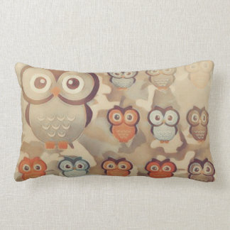 Coussin Rectangle Hiboux