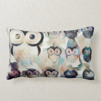 Coussin Rectangle Hiboux partout