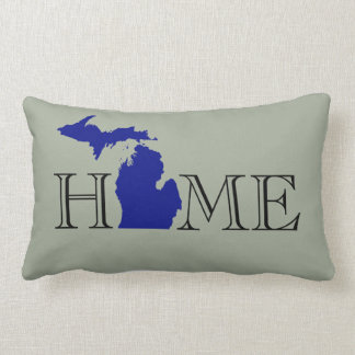 Coussin Rectangle I coeur Michigan