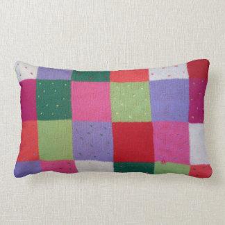 Coussin Rectangle le patchwork tricoté par style vintage ajuste