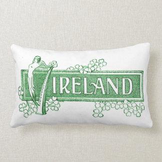 Coussin Rectangle L'Irlande avec l'harpe irlandaise
