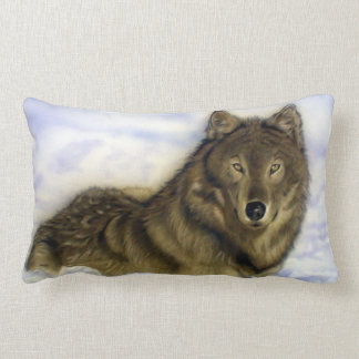 Coussin Rectangle Loup d'hiver