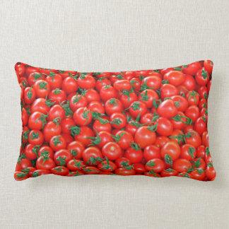 Coussin Rectangle Motif rouge de tomates cerise