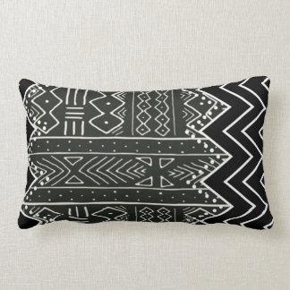 Coussin Rectangle Motif tribal noir et blanc