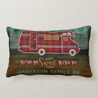 Coussin Rectangle Motorhome rv Camper Travel Van Rustic Personalized