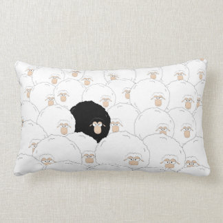 Coussin Rectangle Moutons noirs
