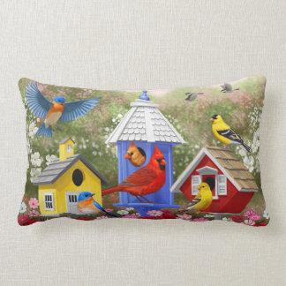 Coussin Rectangle Oiseaux et volières colorés