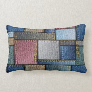 Coussin Rectangle Regard de denim d'amusement