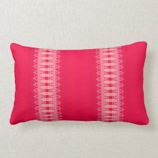 Coussin Rectangle rose rouge