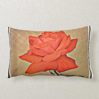 Coussin Rectangle Rose rouge dans le carreau lombaire fait sur