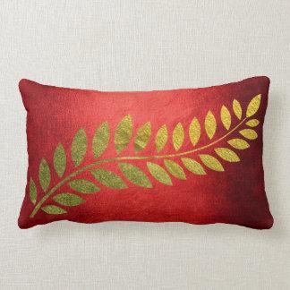 Coussin Rectangle Rouge d'or de congé de Felice d'automne d'automne