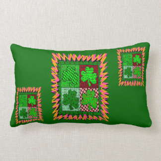 Coussin Rectangle Shamrocks chanceux -