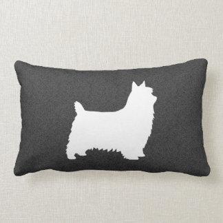Coussin Rectangle Silhouette de Terrier soyeux