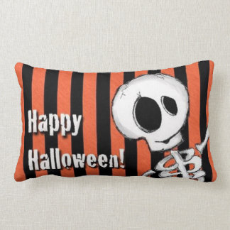 Coussin Rectangle Squelette idiot heureux de Halloween