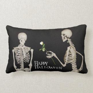 Coussin Rectangle Squelettes Halloween heureux romantique drôle