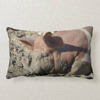 Coussin Rectangle Stylo de porc boueux drôle