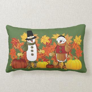 Coussin Rectangle Thanksgiving des pèlerins | de bonhommes de neige