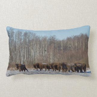 Coussin Rectangle Troupeau de bison