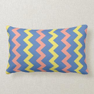 Coussin Rectangle Zigzag coloré lumineux de chevron
