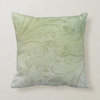 Coussin Remous floral vert