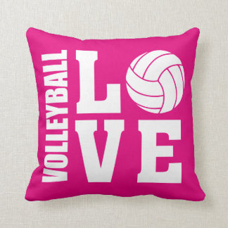 Coussin Rose d'amour de volleyball